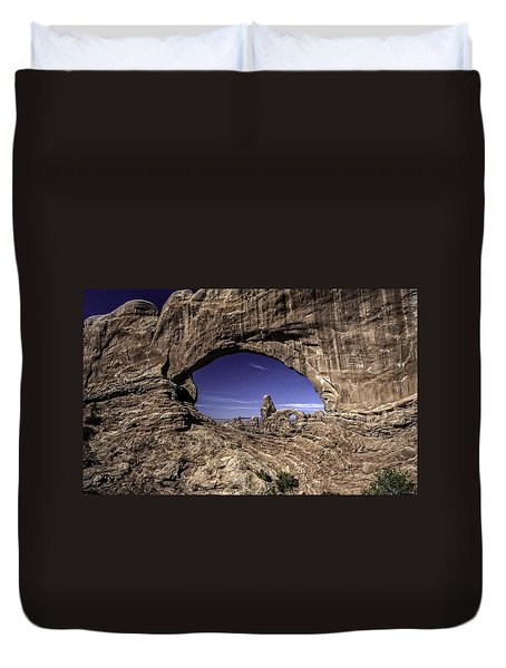 North Window, Arches Duvet Cover