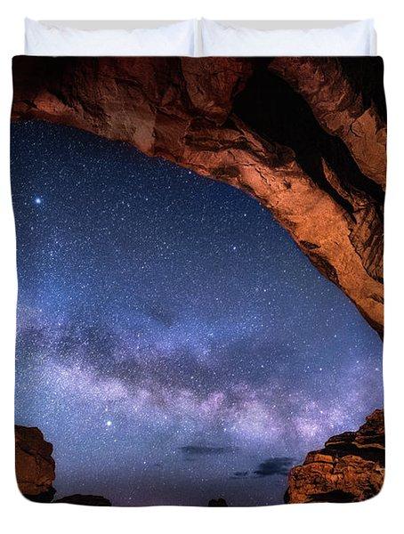 North Window Milky Way Duvet Cover