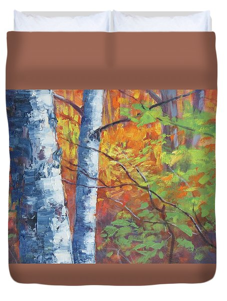 North Woods Birch Duvet Cover