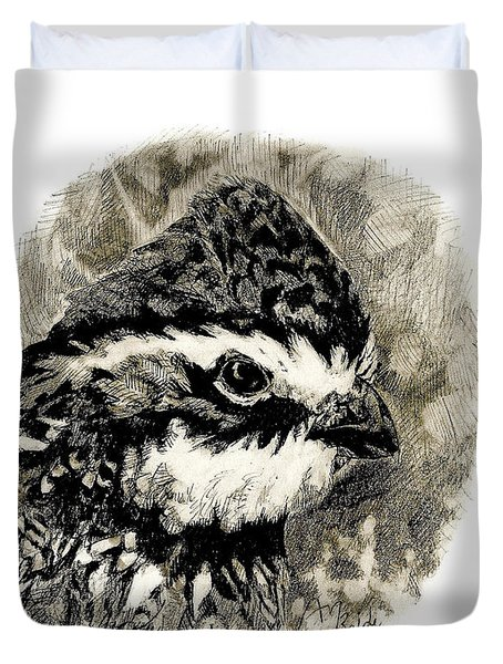 Northern Bobwhite Duvet Cover