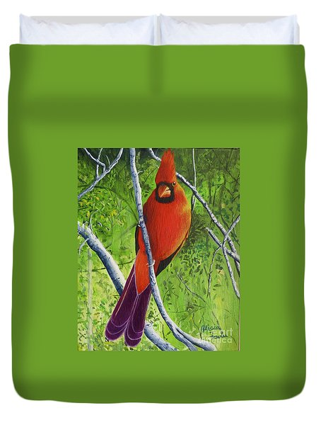 Northern Cardinal 1 Duvet Cover