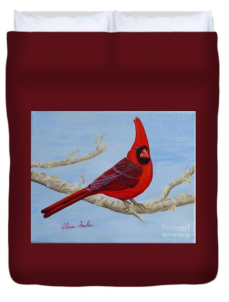 Northern Cardinal 2 Duvet Cover