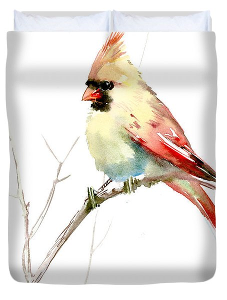 Northern Cardinal,female Duvet Cover