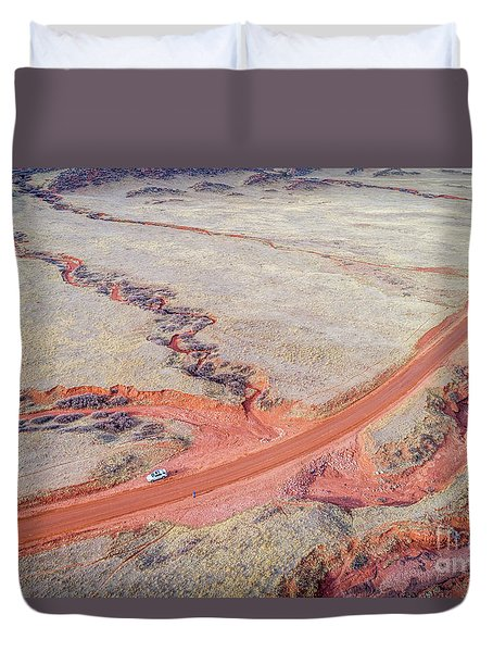 northern Colorado foothills aerial view Duvet Cover