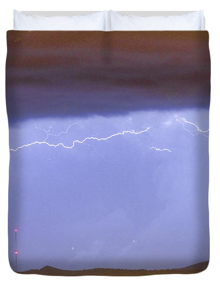 Northern Colorado Rocky Mountain Front Range Lightning Storm  Duvet Cover by James BO  Insogna