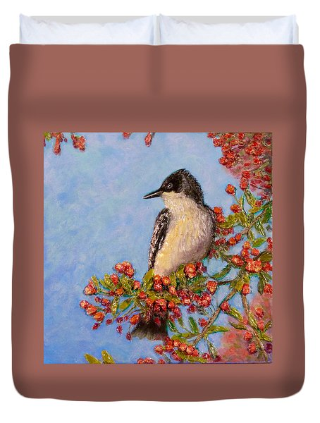 Duvet Cover featuring the painting Northern King Bird  by Joe Bergholm