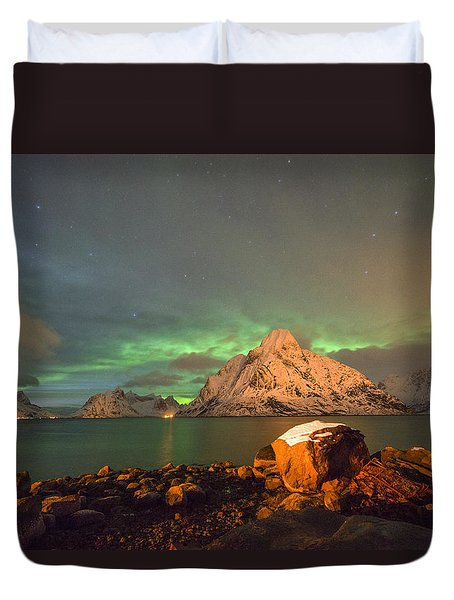 Spectacular Night In Lofoten 3 Duvet Cover