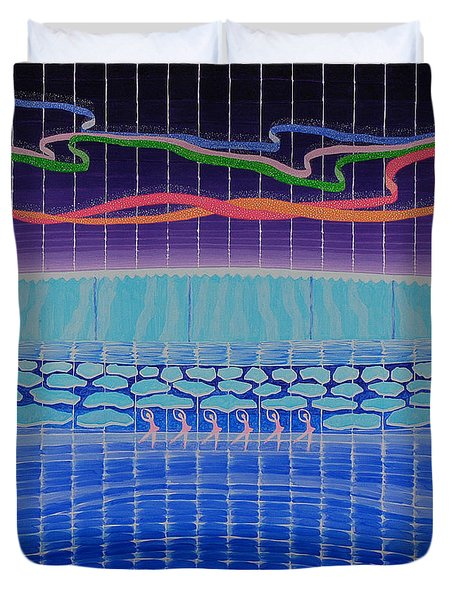 Northern Lights Ballet Production Duvet Cover