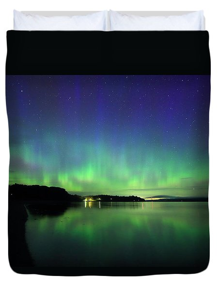 Northern Lights Dance Duvet Cover