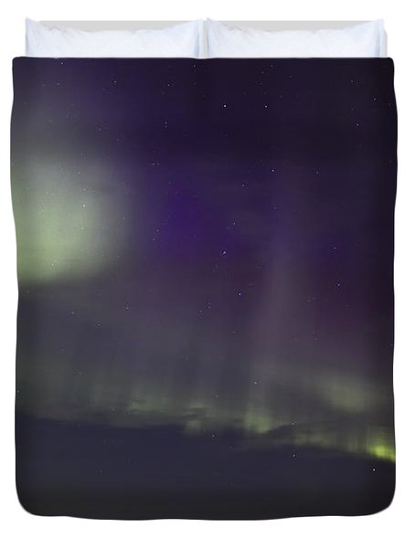 Northern Lights Near Yorkton Duvet Cover