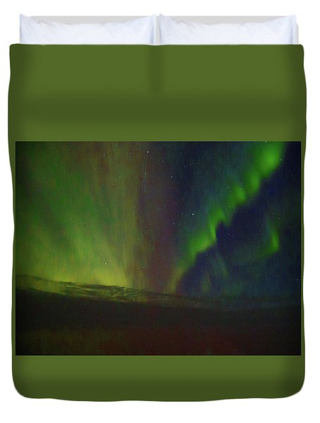 Northern Lights Or Auora Borealis Duvet Cover