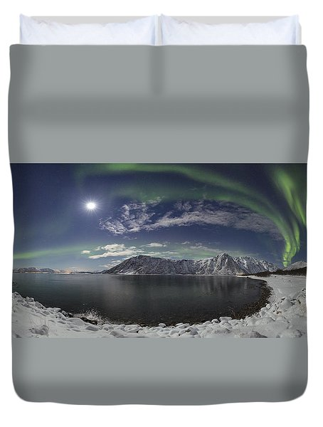 Northern Lights Panoramic II Duvet Cover