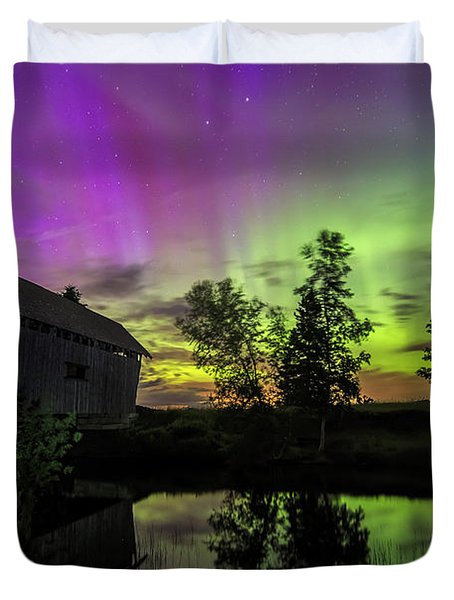 Northern Lights Reflection Duvet Cover