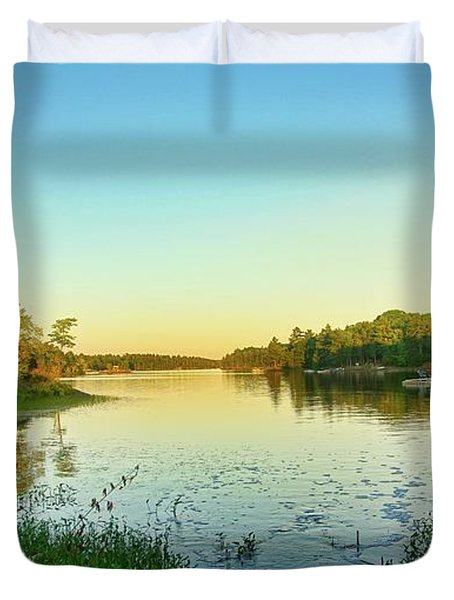 Northern Ontario Lake Duvet Cover
