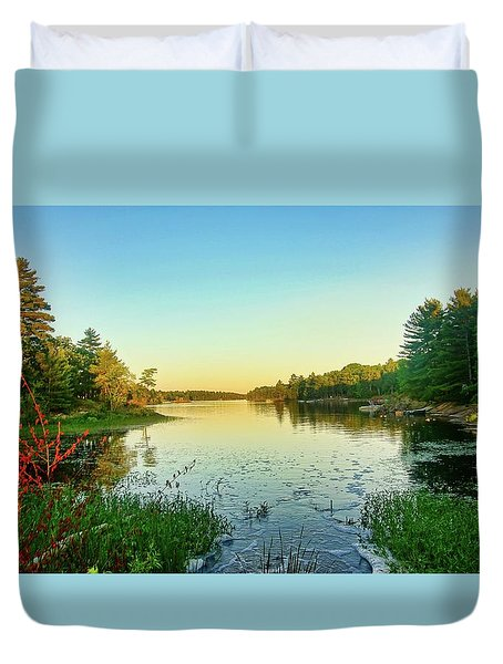 Northern Ontario Lake Duvet Cover