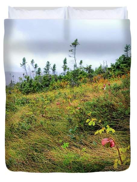 Northern Pitcher Plants In Gros Morne Park Duvet Cover