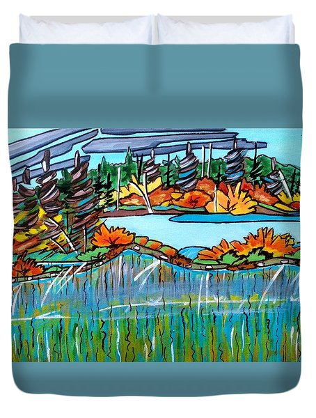 Northern Reflections 2 Duvet Cover