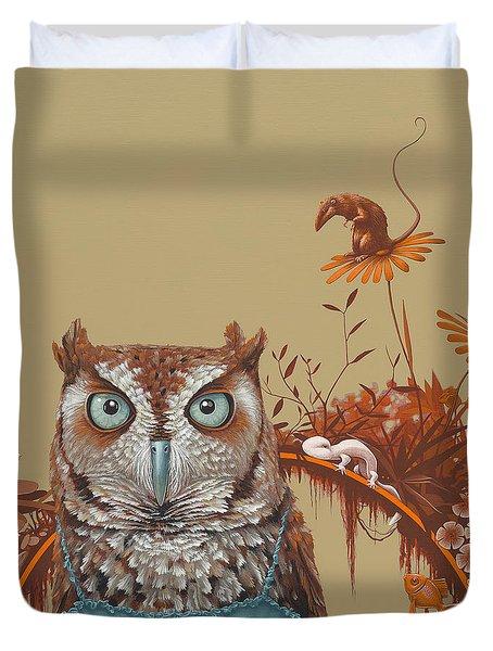 Northern Screech Owl Duvet Cover