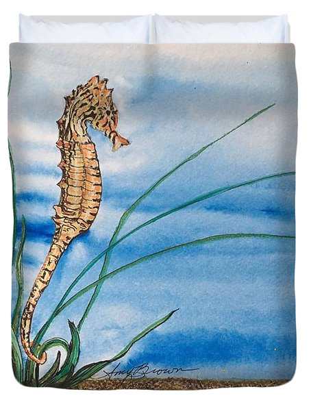 Northern Seahorse Duvet Cover