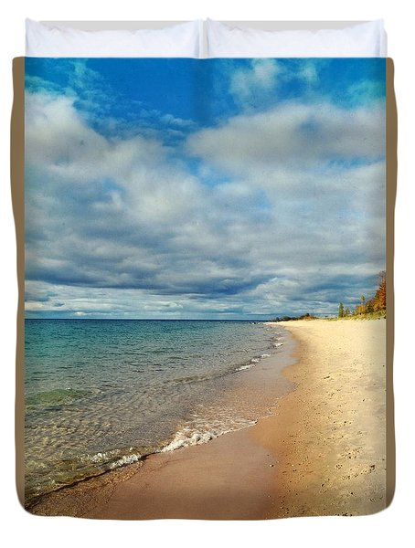 Duvet Cover featuring the photograph Northern Shore by Michelle Calkins