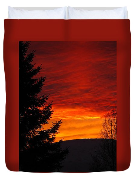 Northern Sunset 2 Duvet Cover