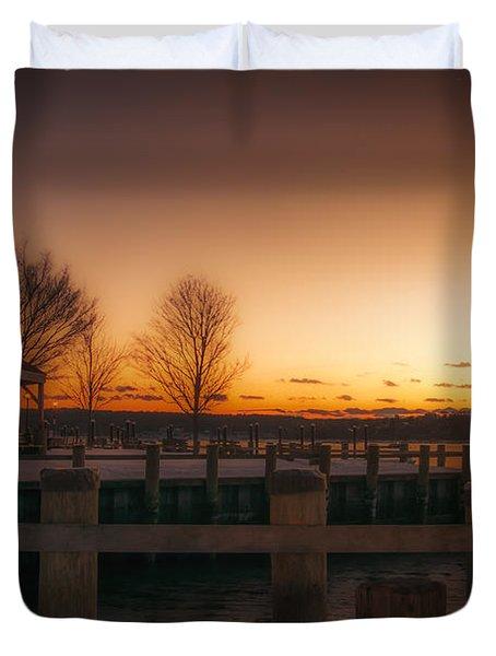 Northport Sunset Duvet Cover