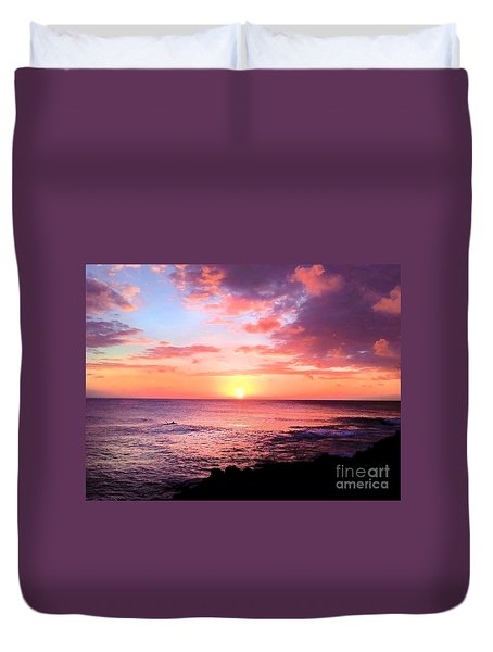 Northshore Sunset Duvet Cover