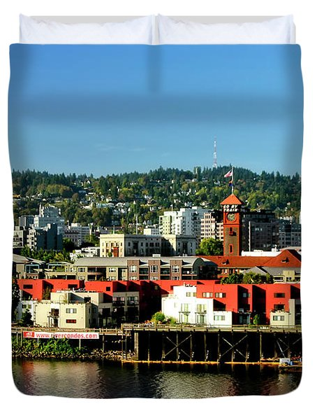 Northwest Portland Duvet Cover