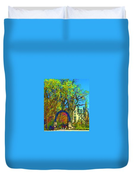 Northwestern Arch  Duvet Cover