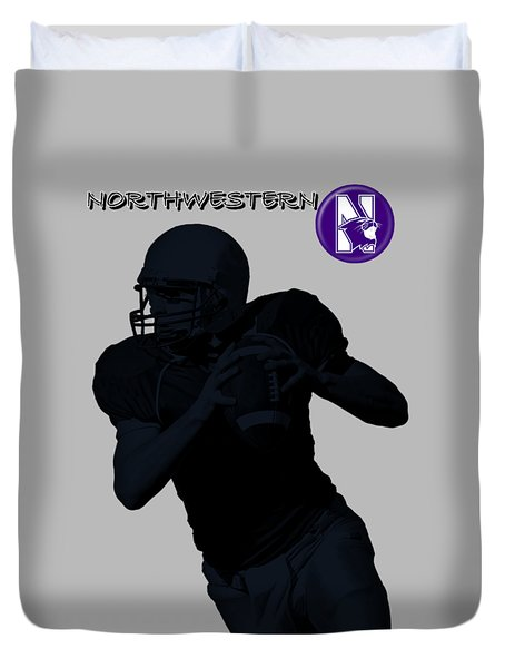 Northwestern Football Duvet Cover