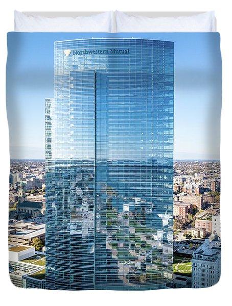 Northwestern Mutual Tower Duvet Cover