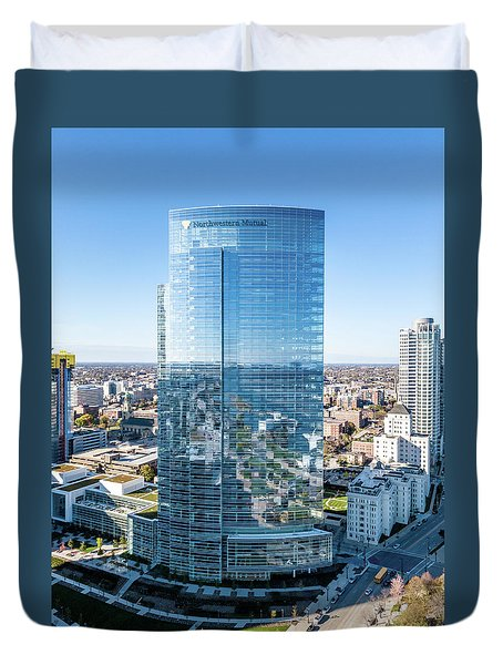 Northwestern Mutual Tower Duvet Cover