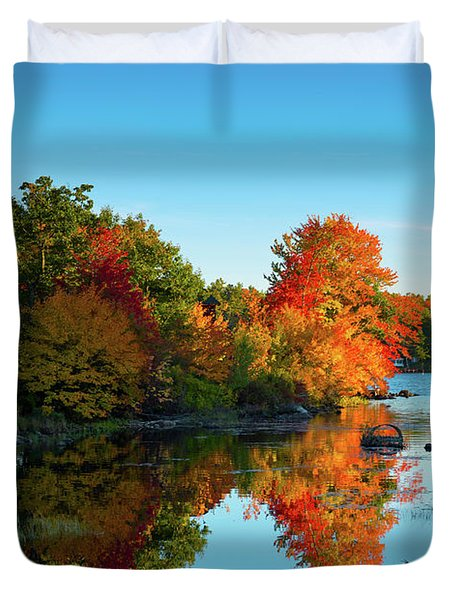 Northwood Lake Autumn Duvet Cover