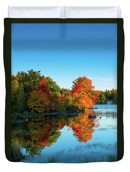 Northwood Lake Autumn Duvet Cover