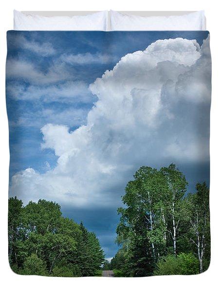 Northwoods Road Trip Duvet Cover by Steve Gadomski
