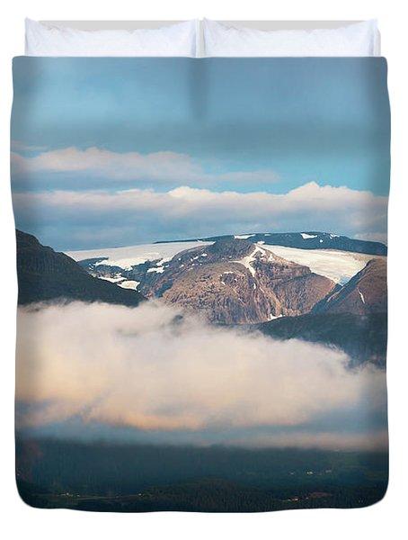 Norway Fjord Innvikfjorden Duvet Cover