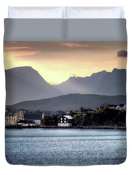 Norwegian Sunrise Duvet Cover