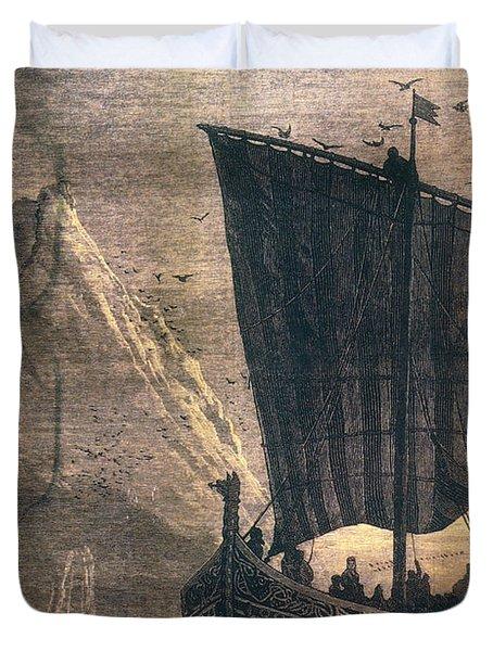 Norwegian Viking Longship Duvet Cover