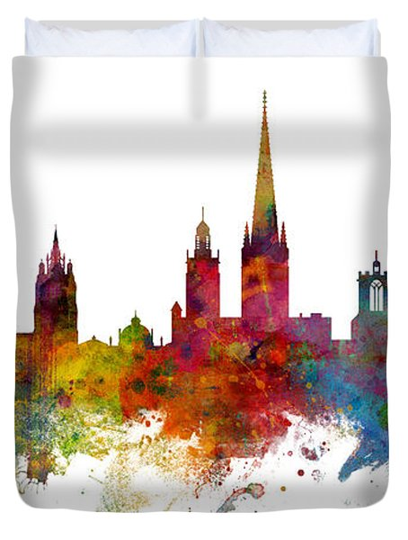 Norwich England Skyline Panoramic Duvet Cover