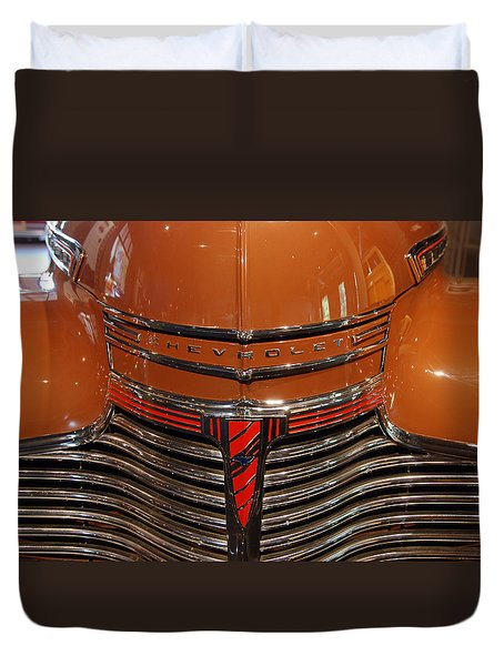 Nose 1941 Chevy Duvet Cover