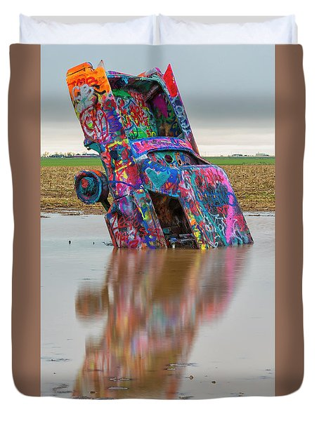 Duvet Cover featuring the photograph Nose Dive by Stephen Stookey