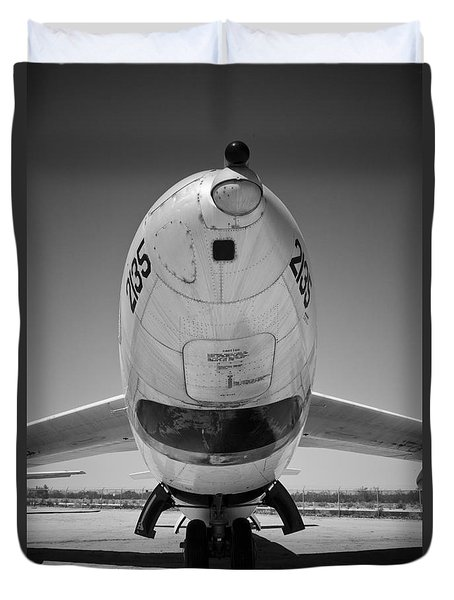 Duvet Cover featuring the photograph Nose First by Chris Dutton