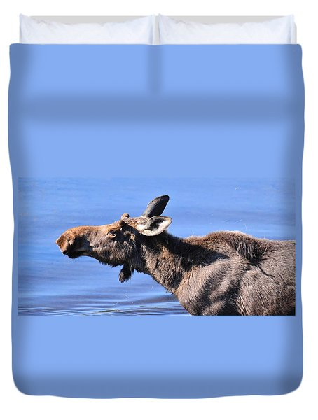 Nose First - Moose Duvet Cover