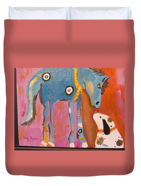 Nose To Nose Duvet Cover