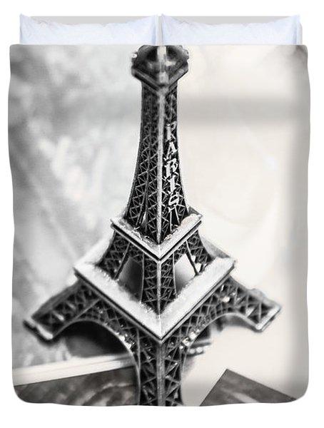 Nostalgia In France Duvet Cover