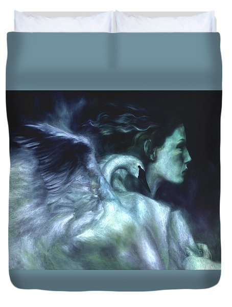 Duvet Cover featuring the painting Nostalgia by Ragen Mendenhall