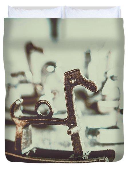 Nostalgic Horse Charm Duvet Cover