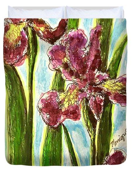 Nostalgic Irises Duvet Cover