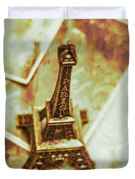 Nostalgic Mementos Of A Paris Trip Duvet Cover