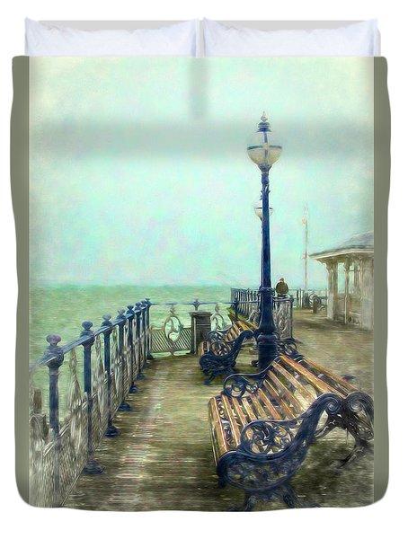 Nostalgic Pier Swanage Duvet Cover